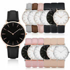 Fashion Mens Womens Casual Leather Watch Hot Quartz New Dress Analog Wrist Watch