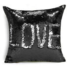 Created Hot DIY Two Tone Glitter Sequins Throw Pillows Cafe Home  Decorative Cus