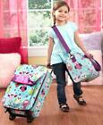 3 PC Kids Travel Rolling Luggage Suitcase Duffel Tote & Clutch Sets Boys & Girls