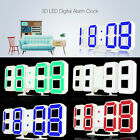 3D LED Digital Alarm Clocks 24/12 Hours Display Dimmable Night Light Snooze Home
