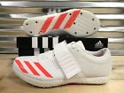 Adidas Adizero HJ High Jump Track Spikes White Orange SZ  BB4098  New