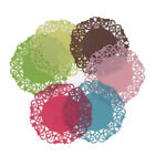 3PCS Silicone Round Hollow-out Floral Cup Placemat Coasters Heat Insulation Pads