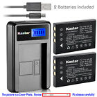 Kastar Battery LCD Charger for Fuji NP-60 & Fujifilm FinePix F401 Zoom Camera