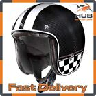 X-Lite X-201 U.C. Willow Springs Carbon Fibre Open Face Motorcycle Helmet