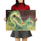 Famous Anime Movie Spirited Away Kraft Paper Poster Decorative Painting Wall