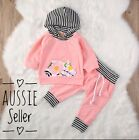 Hooded Top Pants Hoodies Pink Flower Set