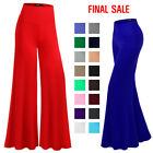 Thanth Women Capri Pants Plus Size Long Leg Wide Pants Chic