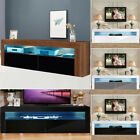 Contemporary TV Unit Cabinet Stand Matt High Gloss AND LED Light For Living Room