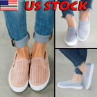 ladies shoes - Women Ladies Trainers Breathable Plimsolls Slip On Flat Sneaker Pumps Shoes Size