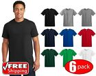 6 PACK Gildan Heavy Cotton Short Sleeve T Shirt Mens Blank Under Plain Tee 5000