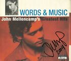 John Mellencamp REAL hand SIGNED Words & Music Greatest Hits Cd Cover COA #2