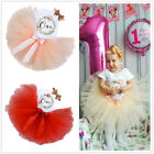 Baby Girls 1st First Birthday Romper Dress Cake Outfits Kids