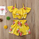 Baby - Toddler Kids Baby Girl Floral Outfits Clothes T-shirt Tops+Pants/Shorts 2PCS Set