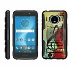 For Motorola Moto E5 Cruise / E5 Play Rugged Armor Hybrid Holster Belt Clip Case