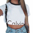 Fashion Womens Loose Pullover T-Shirts Short Sleeve Cotton Top Shirt Blouse Crop