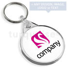 Personalised Promotional Custom Business Keyrings Key Fobs 38 x 38 mm | Round