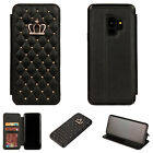 Bling Crown Diamond Flip Wallet Card Case Stand Cover For Samsung Note 8/S9+/S8+