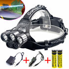 pretzel head torch - 80000lm 5-led Zoom LED Rechargeable 18650 Headlamp Head Light Torch Charger USA