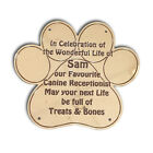 Solid Brass PAW PRINT plaque 3 sizes Engraved