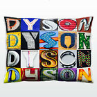 Personalized Pillow featuring the name DYSON in photos of actual sign letters