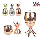 UK 500ML 304 Stainless Steel Mugs Pineapple Cocktail Glass Drinking Cup Winebowl