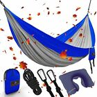 Heavy-Duty XL Double Parachute Camping Hammock 1500 lbs For Outdoor, Backpacking