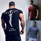 hyoglossus muscle - Men's Gym Muscle Bodybuilding Cotton Sport Fit Fitness Casual T-shirt Tee yu