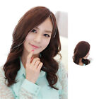 Women One Piece Clip in Human Hair Side Fringe/ Bang Human Hair Topper Piece