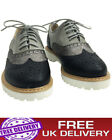 Girls Women's Flatform Lace Up  Ladies Comfy Loafer Office Boots Shoes Size 3-8