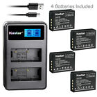 Kastar Battery LCD Dual Charger for Fujifilm NP-W126 NP-W126s & Fuji X-T2 Camera