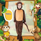 Childs/Adults Monkey Animal Fancy Dress Costume Cute Fancy Dress Book Day Outfit
