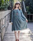 Robe tunique ample volant dentelle Mori superposition retro Shabby chic boheme