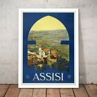 Assisi, Italy Travel Vintage Tourism Home Decor Art Poster Print - A4 A3 Framed