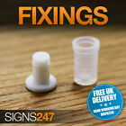 MINI Plastic sign letter fixings stand off locators letter fixings snap sign
