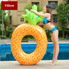 Giant Inflatable Unicorn Ring Flamingo Pool Float Ride-On Swimming Party Pump