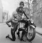 8b20-5423 Britt Ekland and friend 60's fashion for motorcycle ride 8b20-5423 $15.99 USD on eBay