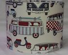 VW Campervan and Mod Scooter Lampshade
