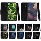For Alcatel IdealXCITE / Raven Leather Flip Wallet Case Stand Cover w/ Card Slot