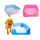 S M L Size Indoor Dog Puppy Plastic Potty Training Fence Tray Pad