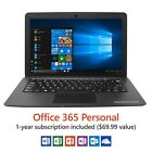 "New 12.5"" Ultra Slim Laptop, Windows 10 Home, Office 365 Personal 1-Year 32GB"