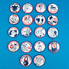 VTG 1940s 50s Cartoon PINBACKS Humor Sexy Risque Pinup litho WINK Ladies Hep Cat