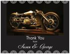 Motorcycle THANK YOU CARDS 5.5X4 Flat or Folded & ENV