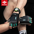 Santic Mens Summer Cycling Gloves Half Finger Sport MTB Road Bike Gloves 2 Color