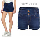 New Look Womens High Waisted Denim Shorts in Blue Sizes 6 to 18