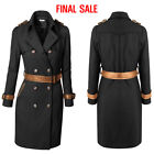 guinea pig coats for sale - [FINAL SALE]Doublju Womens Long Sleeve Belted Point Trench Coat