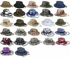 NWT'S ASSORTED MILITARY STYLE BOONIE SUN HATS IN MULTIPLE CAMOUFLAGES ALL SIZES