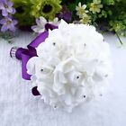 Rose Flower Bridal Bride Wedding Party Bouquet Bridesmaid Banquet Home Decor US
