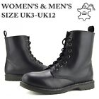 Men's ankle retro combat boots funky Leather vintage gothic Ankle Boots