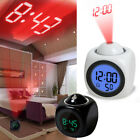 Alarm Clock Digital LCD Display Voice Talking LED Time Temperature Projector NEW