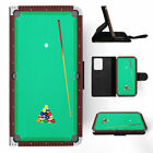 SNOOKER POOL TABLE 2 FLIP WALLET CASE FOR SAMSUNG GALAXY S7 S8 S9 $8.99 USD on eBay